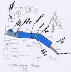 Star Wars Droids Original Cartoon Production C3PO Grease Pistol Model CEL BV789   eBay