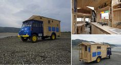 Ever imagined how awesome it would be to travel around the country and have your cozy accommodation at your side all the time? The truck you see in the photos has been adapted to sustain an entire house made of wood. Not only that, but the home is also self-sufficient. So besides the fact that you can have a car suited for off road voyages, you also have a dwelling which can sustain your living for days on end.   http://www.morison.info/talesofspaceandt.html