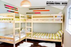 17 Super Smart Ideas For Decorating Kids Room With Four Beds & 103 best Beds For Kids Girls images on Pinterest in 2018   Child ...