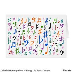 """Shop Colorful Music Symbols + """"Happy Mother's Day!"""" Card created by AponxDesigns. Mother's Day Greeting Cards, Custom Greeting Cards, Music Teacher Gifts, Music Teachers, Wood Company, Music Symbols, Thing 1, Happy Mother S Day, Wood Canvas"""