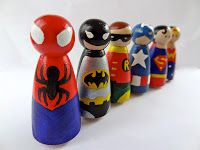 The Yewman Projects - Blogs, Dogs, Frogs & Books : Superhero peg people