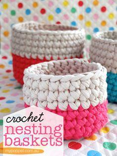 DIY modèle crochet gratuit en anglais #crochet #trapilho #basket