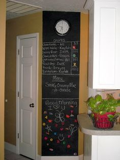 Magnetic Wall Chalkboard before and after