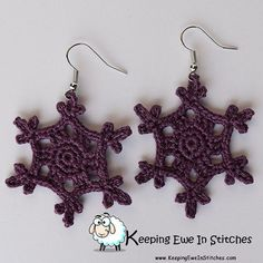 Just out! French Lilac #snowflake #keepingeweinstitches #earrings