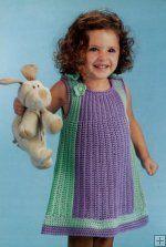 Crochet spring dress