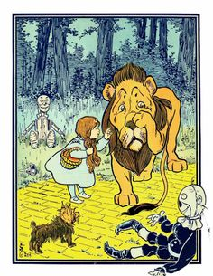 Print Illustration from the original Frank Baum by ArtDasherie