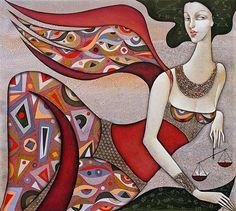 """Wlad Safronow, """"Engel des Schicksals, 90x100"""" Mit einem Klick auf 'Als Kunstkarte versenden' versenden Sie kostenlos dieses Werk Ihren Freunden und Bekannten."""