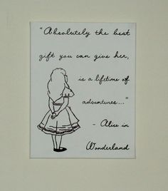 Baby Nursery Art Disney Character Quote Alice in Wonderland Hand Painted Keepsake Custom Canvas on Etsy, $35.00