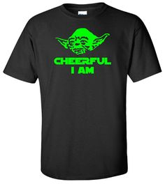 a01314f32 Yoda Cheerful I Am - Star WarsT Shirt Yoda T Shirt - Adult Unisex Sizes  Gildan - Disney Episode 7 - Christmas T Shirt - Disney Christmas Tee