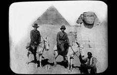 Australian officers on donkeys in Egypt during World War I