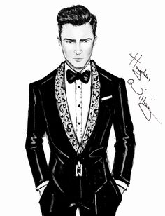 CELEBRITIES ☆ Justin Timberlake - 'Suit and Tie' - Illustration by Hayden Williams