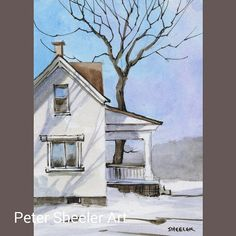 Landscape watercolor paintings country artists Ideas for 2019 Pen And Watercolor, Watercolor Landscape, Watercolour Painting, Landscape Paintings, Watercolors, Peter Sheeler, Building A Shed, Building Plans, Shed Blueprints