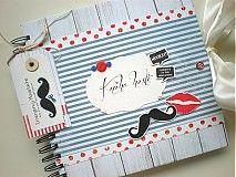 Svadba - Kniha hostí Moustache & Lips - 3478414 Moustache, Scrapbooks, Coin Purse, Lips, Snoopy, Purses, Fictional Characters, Handbags, Mustache
