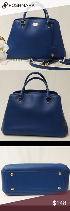 "NWOT COACH MARGOT LARGE BLUE BAG ‼️New Without Tags‼️Absolutely FABULOUS!! Beautifully crafted with luxurious soft leather. One of the TIMELESS Coach bags you will surely love to have, that's for sure!   This is in excellent xonsitdlm Size ""1,3,5x9""4"". Pet smoke free home.   AUTHENTIC❣️LEATHER ❣️FAST SHIPPING!❣️MAKE AN OFFER  Please see my other listings🌺💞😍 Coach Bags Crossbody Bags"