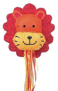 Lion Head Pull String Pinata