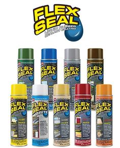 The Easy Way to Coat, Seal & Stop Leaks Fast!:FLEX SEAL is a rubberized coating that sprays out as a liquid, seeps into cracks and holes and dries to a watertight, flexible coating.It's perfect for: Roof Leaks, Gutters, RV'S, Campers, Mobile Home Roofs, Skylights, Vent Pipes, Flashings,
