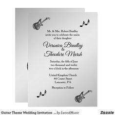 Guitar Theme Wedding