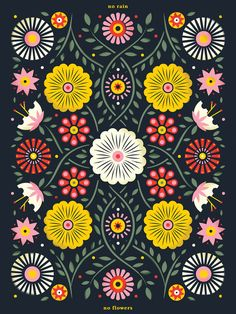 Bailey Sullivan for Beacon, a Disaster Relief Project Design Textile, Design Floral, Apple Watch Wallpaper, Scandinavian Folk Art, Gypsy Decor, Bohemian Art, Poster Layout, Plant Illustration, Indigenous Art