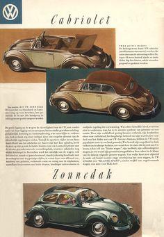 1952 VW Cabriolet and Ragtop Dutch brochure