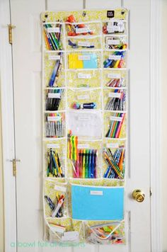 Quelques+idées+pour+organiser+le+matériel+d'art+des+enfants!+ +La+cabane+à+idées