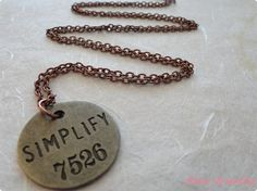 Special Intro Price Simplify Necklace by pinxjewelry on Etsy, $10.00
