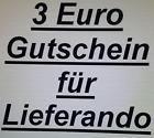 #lastminute  3 Euro Lieferando Gutschein auch für Bestandskunden #Ostereich