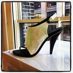 Gorgeous iridescent spring shoe for Rebecca Minkoff