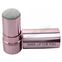 Professional Retractable Soft Make-Up Foundation Brush - Violet US$9.67