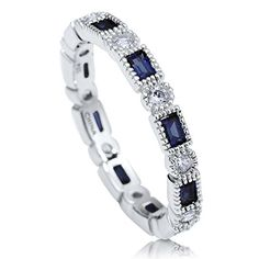 BERRICLE Sterling Silver Simulated Blue Sapphire Cubic Zirconia CZ Art Deco Eternity Band Ring BERRICLE http://www.amazon.com/dp/B005FLX89O/ref=cm_sw_r_pi_dp_2tV2wb1TP6VKH