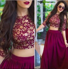 174ad6a677 80 Best Indian Skirt and crop top images in 2019 | Indian skirt ...