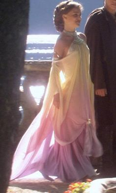 i know im a nerd, but i always thought Natalie Portman's dress in Star Wars Episode II was beautiful :)