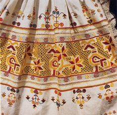 Hello all, Today I will talk about one of the most colorfully embroidered costumes of Slovakia, That of the village of Čičmany and v. Folk Costume, Costumes, Folk Dance, Folk Embroidery, Bratislava, Cutwork, Girls Wear, Traditional Dresses, Vintage Outfits