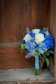 something blue... Flower Bouquet www.andreakuehnis.com