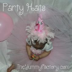 Party Hats done in the hoop. Embroidery designs all done in the hoop.  Birthday hats are perfect for any party!