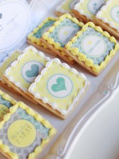 Make your next event even more special with custom designed goodies.  These delectable sweets were decorated with edible printed designs to add a personal touch to the celebration.