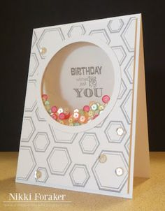 Scrappin' Navy Wife: Floating Shaker Card