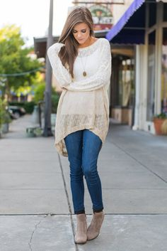 """""""On Top Of Ombre Sweater, Cream"""" You are going to love this neutrally colored sweater! The ombre is so light and it seems to happen so naturally!  #Newarrivals #shopthemint"""