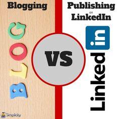 Blogging vs Publishing on LinkedIn