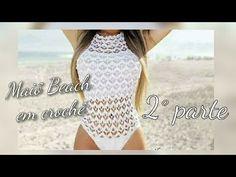 Maiô Beach em crochê (tamanho m)2°parte - YouTube Beach Crochet, Crochet Lace, Crochet Bikini, Parte Superior Del Bikini, Swimwear Cover Ups, Crochet Videos, Costume, Crochet Clothes, Beachwear