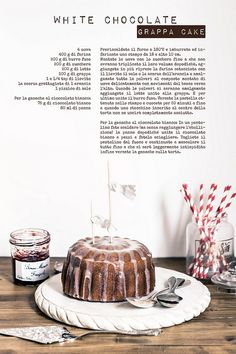 White chocolate grappa cake by Marcello.Arena, via Flickr