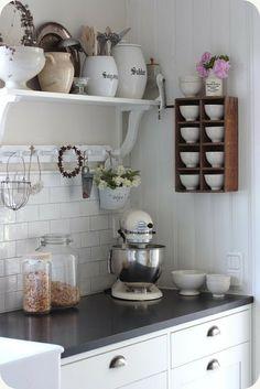 Witte Kitchenaid in de keuken #libelle en @Susan Caron de Bruijn