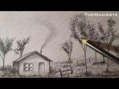 Cómo Dibujar Paisaje a Lápiz paso a paso