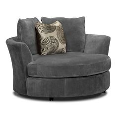Cordoba Upholstery Swivel Chair - Value City Furniture $499.99