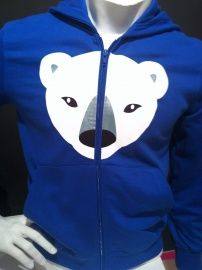 kids hooded sweater Polar Bear / IJsbeer   Design: Coolpuk for Mingface