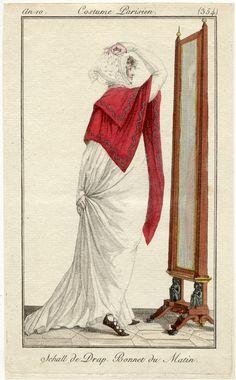 Regency fashion plate, Costume Parisien 1802.