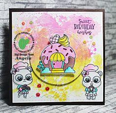 #angelasbastelwelt #craftindesertdivas #cdd #cddmonthly #cdddies #cddstamps #donutparty #birthdaycard