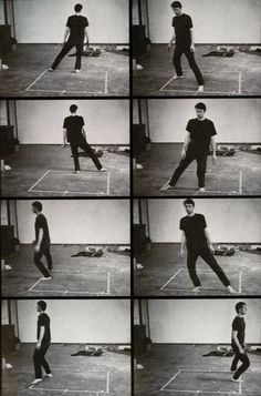 Bruce Nauman. Dance or Exercise on the Perimeter of a Square, 1967-1968.