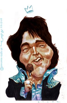 the King! Caricature, King, Movies, Movie Posters, Fictional Characters, Art, Illustrations, Drawings, Art Background