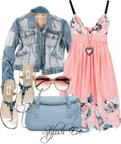 Seeing cute clothes helps motivate me to lose weight :) I'm totally digging this look! Cute Summer Outfits, Pretty Outfits, Pretty Dresses, Beautiful Outfits, Love Fashion, Fashion Outfits, Womens Fashion, Outfit Sets, Spring Summer Fashion