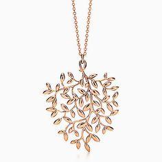 Pendente Olive Leaf Paloma Picasso® in oro rosa 18k, grande.